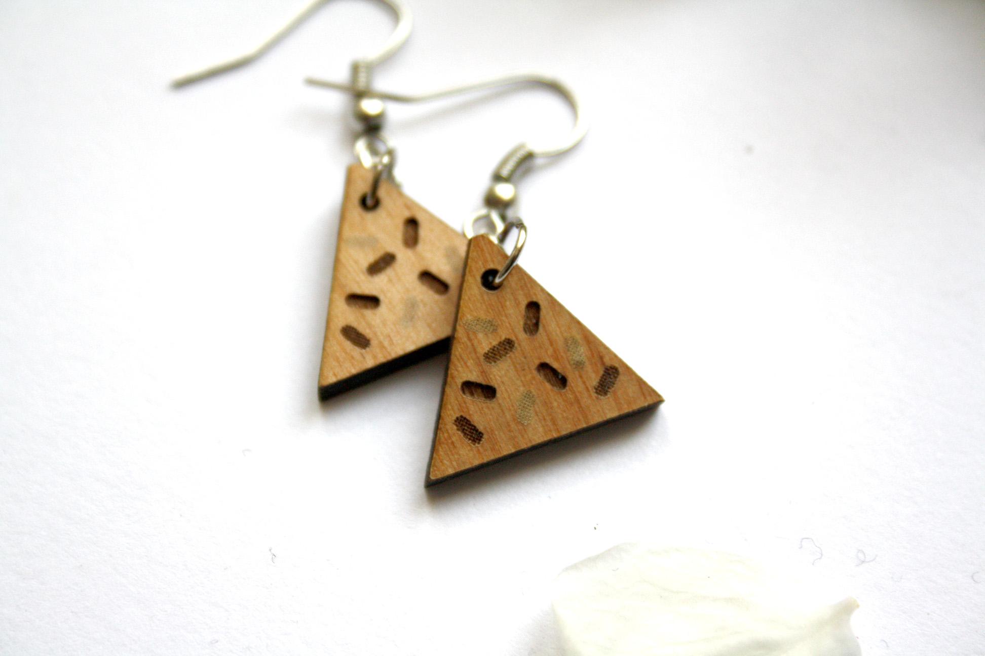 LJSLYJ Simple Retro Bois G/éom/étrique Triangle Rond Boucles doreilles Tassel Longues Boucles doreilles pour Femmes Alliage Bijoux Accessoires 1 #