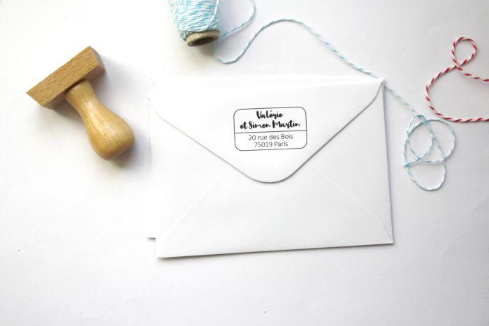 tampon personnalisé adresse