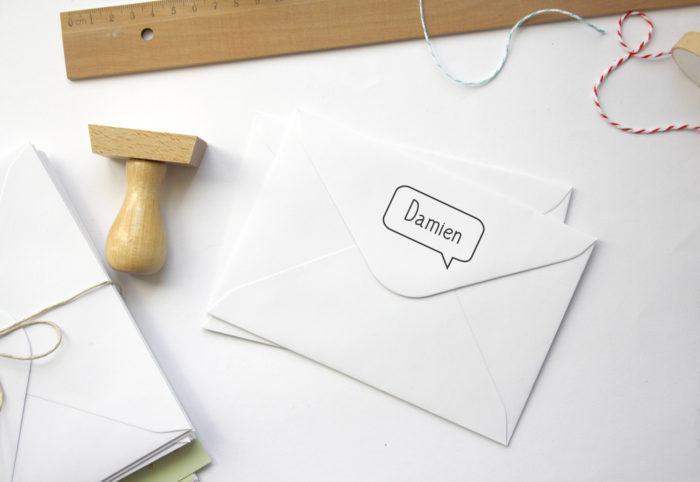 tampon personnalisé logo