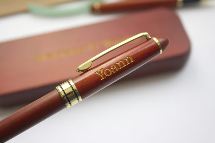 parure stylos personnalisés