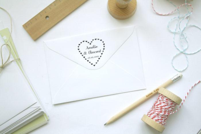 tampon mariage coeur