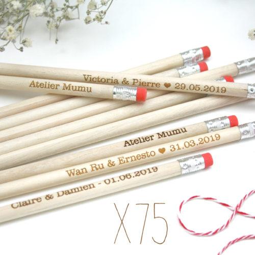 crayons personnalisés