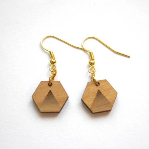 boucles d'oreilles hexagones