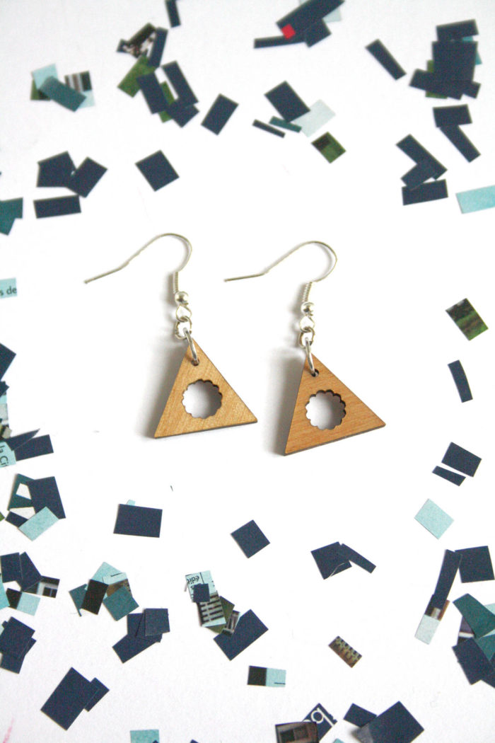 boucles d'oreilles triangles