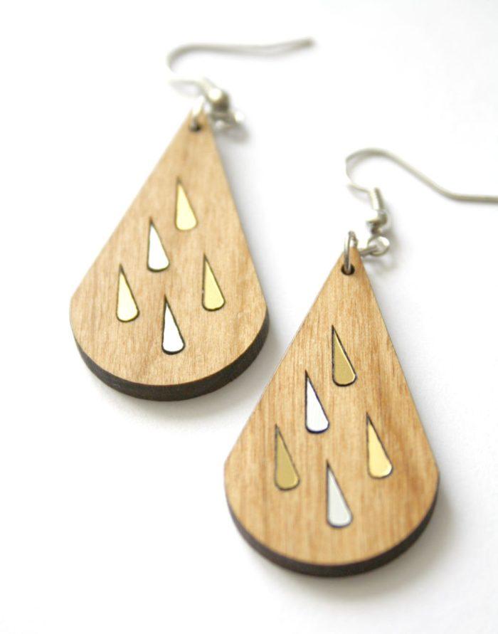 boucles d'oreilles pluie
