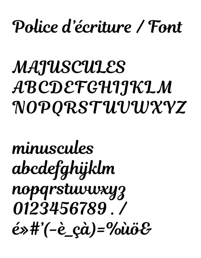 typographie tampon