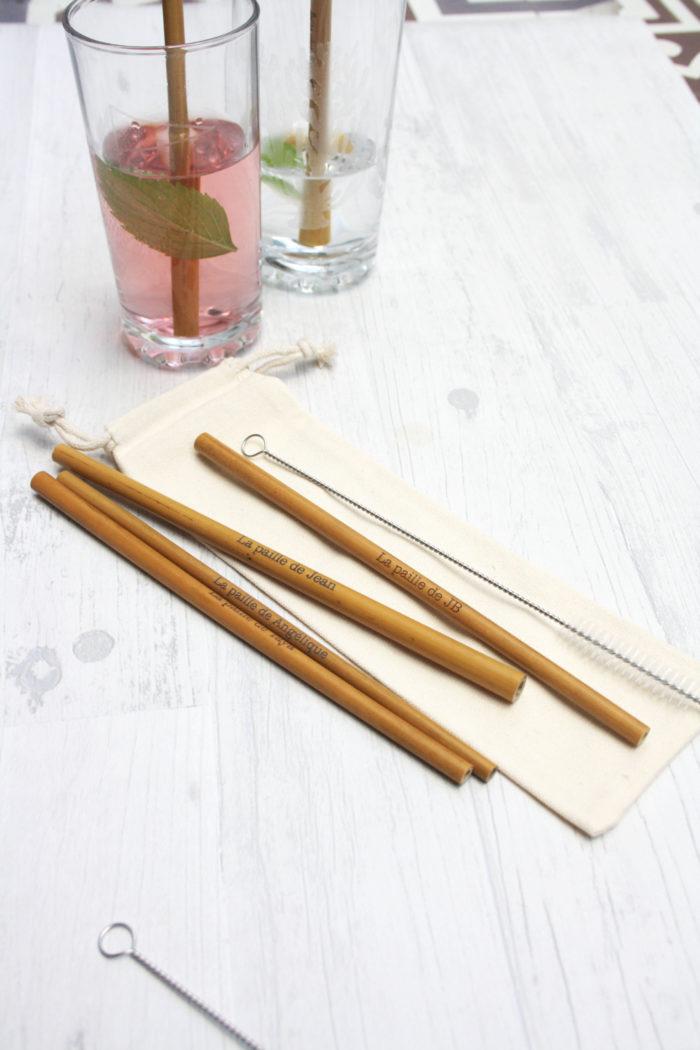 paille bambou personnalisée